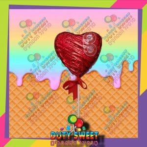 לב שוקולד על מקל