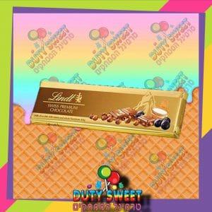לינדור שוקולד אוכמניות ואגוזים 300g