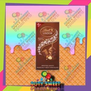 לינדור שוקולד חלב אגוזים 100g