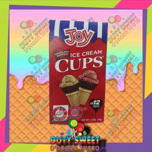 ג'וי גביעי גלידה מצופים שוקולד 12 יח