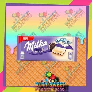 מילקה אוראו שוקולד לבן מילוי וניל וביסקוויט 100g