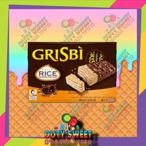 גריסבי וופל קרם חלב מצופה שוקולד ופצפוצי אורז רביעייה 120g