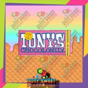 טוני שוקולד לבן עם פטל וסוכריות קופצות 180g