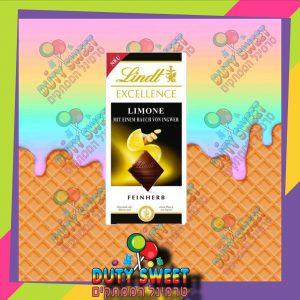 לינדט אקסלנס טבלת שוקולד מריר מעולה עם שקדים , לימון ונגיעות גינג'ר 100g